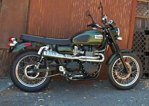 Dunstall 2 into 1 High Level Exhaust System - Triumph New Bonneville