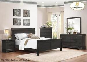 Queen Black Bedroom Furniture Sale | 6 Pcs (ME1102)