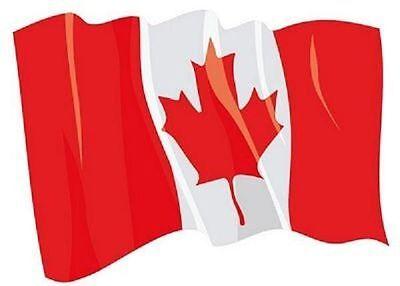 Aufkleber wehende Flagge Kanada Fahne wehend 28 x 20 cm Autoaufkleber (Autofahne Kanada)