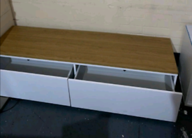 Wide Television Storage unit with Drawers only £95. Real Bargains Clea