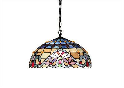 Stained Glass Hanging Ceiling Pendant Lamp Light Fixture Beautiful Tiffany Style