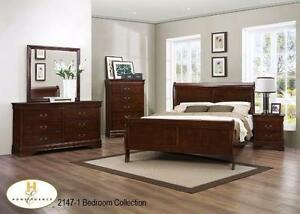 New!!! Louis Phillip Bedroom Set ONLY $749... Set includes Dresser, Mirror, Queen Headboard, Queen Footboard and Queen R