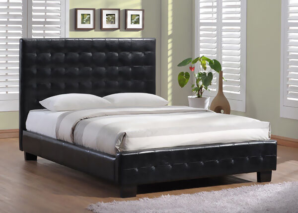 leather bed frame style and functionality - Leather Bed Frame