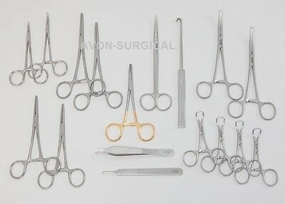 91 Pcs Caninefeline Spay Pack Veterinary Surgical Instruments