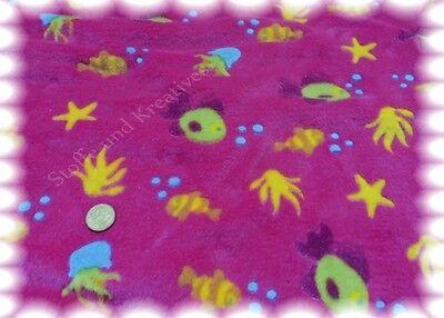 Seestern Pink (Fleece Seestern und Co pink Wellnessfleece Plüsch Jaquard Fleece 50 cm)