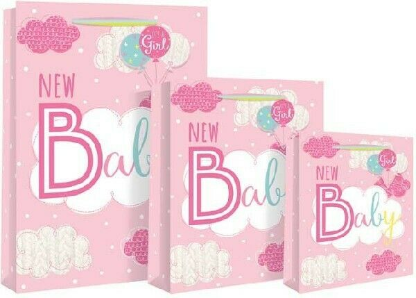 Cute Baby Girl Rainbow Gift Bags Congratulations New Baby Birth Celebration