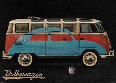 RIESEN Poster VW Bus / Camper - Painted Beetle NEU FL513