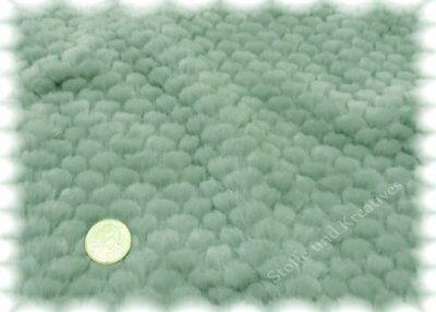 Noppenplüsch lindgrün Plüsch Kunstfell Fake Fur Faux Fur 25 cm