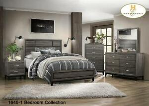 Brand new Contemporary Bedroom Set in Grey finish