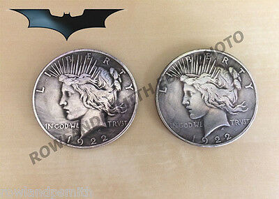 wo Face Double Headed Novelty Coin, The Dark Knight (New) UK (Two Face Münze Dark Knight)