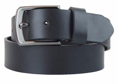 Men's US Steer Hide Leather 38MM Belt With Gun Metal Buckle Made In The USA](The Steer)