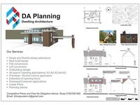 DA Planning Permissions drawings, Architectural Services, Building Regulation Drawings ,
