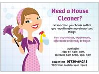Need a House Cleaner? I can make your place sparkle!