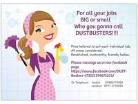 Dustbuster's Cleaning Services, for all your cleaning needs, local reliable ladies