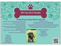 All 4 Paws Bed & Breakfast - Barnsley Based Dog Sitter, Doggy Day Care & Home Boarder