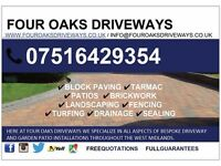 Four Oaks Driveways & Patios | Block Paving & Tarmac in Birmingham, West Midlands.