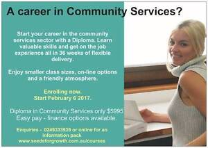 A diploma qualification in Community Services Maitland Maitland Area Preview