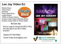 Mobile Disco Karaoke Cardiff and South Wales. Lee Jay Video DJ