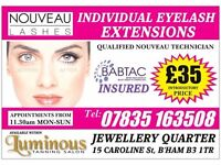 CALL 07835 163508 Nouveau eyelash extensions *£35* within Luminous Salon