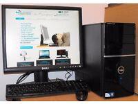 Dell Vostro 220 Windows 10 PC Dual Core Desktop Computer Complete 4GB RAM 160GB HDD Microsoft Office