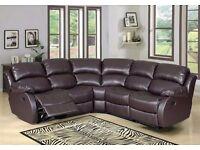 Brand New London Bonded Recliner Leather Sofa ( 3+2 Seat Sofa Set ) 3 Colors Option
