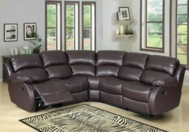 SOFA SALE OFFER⚫BRAND NEW CHICAGO CORNER OR 3+2 SEATER SOFA SET IN BROWN, BLACK COLOR AT CHEAP PRICE