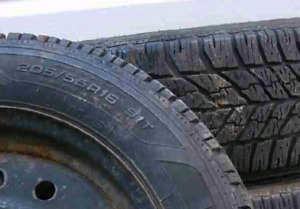 Hurry !!  4 snow tires on rims