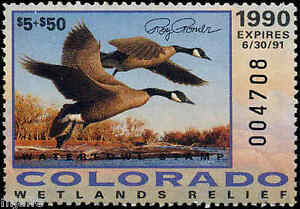 COLORADO-1G-1990-STATE-DUCK-STAMP-GOVERNOR-EDITION