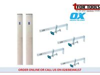 OX Tools Brick Laying Building Profile 2m + 4 PRO 330MM SLIDING CLAMP P101213