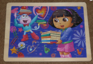 Wooden Dora Jigsaw Puzzle in tray. Picture Underneath