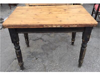 Victorian scullery/kitchen table