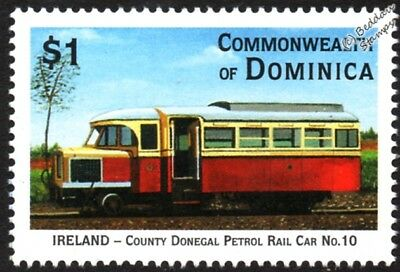 County Donegal Railway (CDR) Ireland/Irish Diesel Railcar No.10 Train Stamp