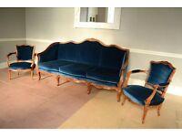 Antique French Louis sofa 3 piece suite