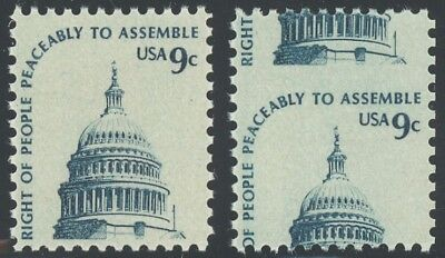 1591 - 9c Capitol - Split Design Perf Shift NH for sale  Shipping to India