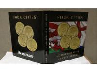 Brand new four city £1 coin albums new!! Rare Edinburgh space