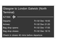 FLIGHTS TO GATWICK FROM GLASGOW