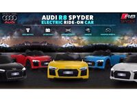 Audi R8 Ride-On Car, Parental Remote Or Self Drive 12v Available In White & Yellow