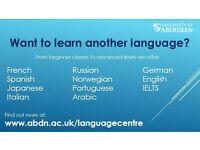 Evening language classes