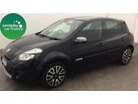 £123.22 PER MONTH BLACK 2012 RENAULT CLIO 1.5 GT TOM TOM 5 DOOR DIESEL MANUAL