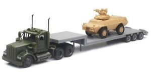 New  Ray    1/43 Kenworth Military Lowboy w/Armored Vehicle (Die Cast) NRY15963