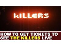 LESS THAN FACE VALUE The Killers Tickets Nottingham Arena - Standing 23rd November 2017 23/11/17
