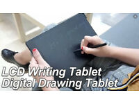 """LCD Writeable electronic drawing 'white(black)board', portable, re-usable 22"""" screen £15"""