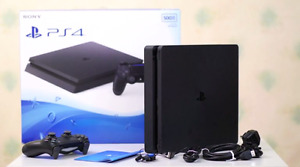 PS4 slim with 2 controllers and 5 games!