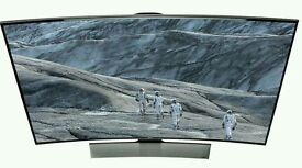 """Samsung 65"""" 4K UHD Curved smart 3d WI-Fi tv built in camera comes with media box and 2 remotes."""