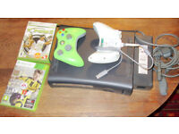 Xbox 360 Elite Console (120GB Hard Drive) and 2 controllers / power lead, good condition
