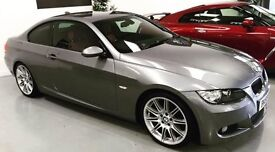 BMW 3 Series 320D M SPORT GREY/RED LEATHER (PERFECT)