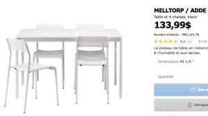 Table et chaises IKEA