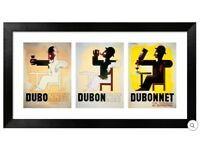 Vintage Dubonnet Poster in Frame - BRAND NEW - by Adolphe Mouron Cassandre