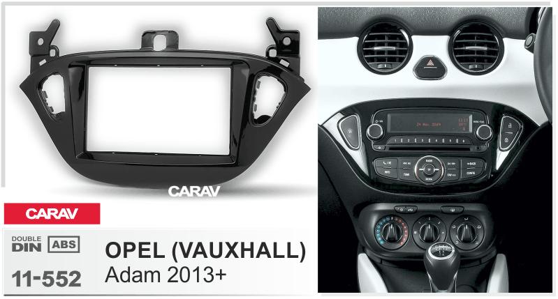 Vauxhall Corsa C Combo Van Voiture Stéréo Radio Simple Din Noir Fascia Kit de montage