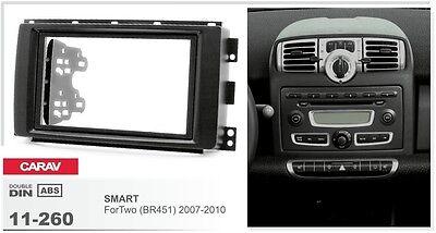 CARAV 11-260 2DIN Car Radio Dash Kit panel for SMART ForTwo (BR451) 2007-2010
